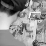 Graffiti-Künstler Florian Berrar auf dem LOVE PEACE AND KIEH